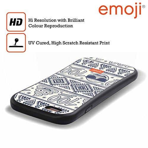 Ufficiale Emoji Scatole Modelli 2 Case Ibrida per Apple iPhone 6 / 6s 100