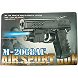 Shivsoft Air Sports Laser Gun Red Laser with Bullets (6mm)-Blk