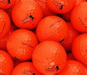 Links Choice 12 balles de golf couleur Orange