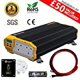 KRIËGER 1100 Watt 12V United Kingdom Car Power Inverter, Dual 230V AC Outlets