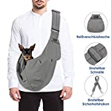 SlowTon Tragetuch Hund, Katze Haustier Hand Schleuderträger Schultertasche Verstellbare Gepolsterte Schultergurt mit Fronttasche Metro Outdoor