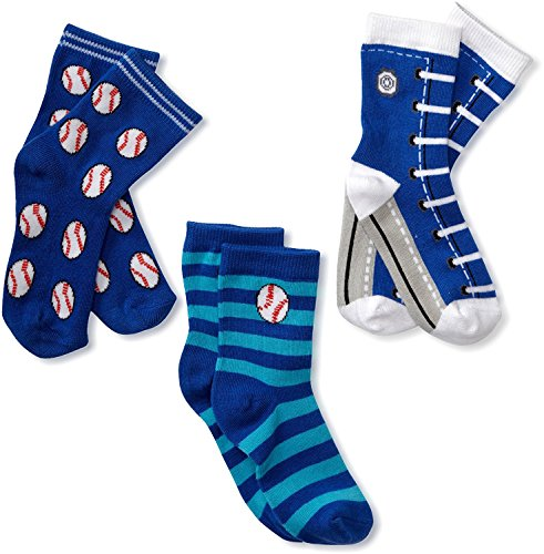 Footprints Super soft Organic cotton and bamboo socks- Pack of 3 - (12-24 Months)- Boys - Blue