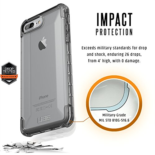 Urban Armor Gear IPHX-A-BK Custodia per iPhone X/10, Nero Trasparente