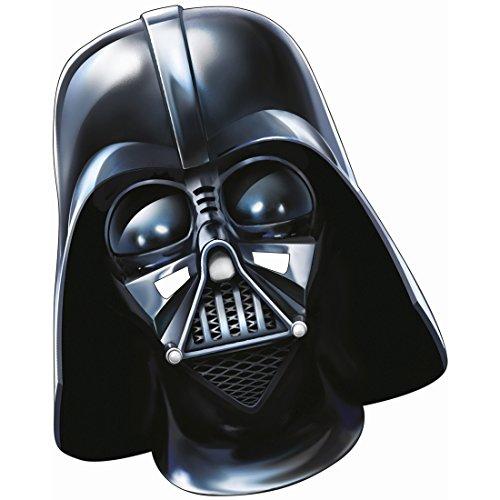 Máscara Darth Vader Careta papel Star Wars Adulto Antifaz guerrero Maestro Sith El despertar de la fuerza mascarilla Careta Jedi Lord Vader Accesorio disfraz caballero oscuro