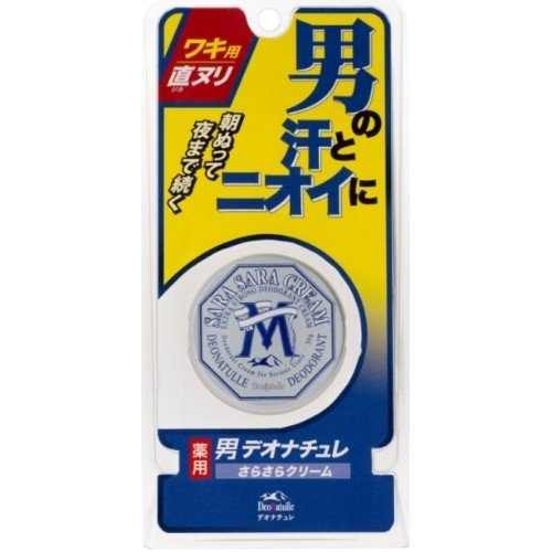 Deonatulle Mens Armpit Sarasara Cream - 35g - Japan No1 Deodorant