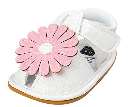 Eozy Chaussures Bébé Sandales Fille Chaussons Cuir Enfant Fleur Princesse Printemps Été