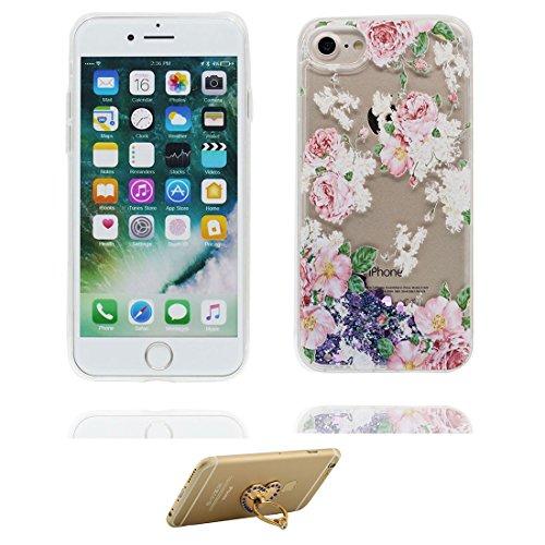 """iPhone 7 Plus Coque, fée - Skin Hard Clear étui iPhone 7 Plus, Design Glitter Bling Sparkles Shinny Flowing Apple iPhone 7 Plus Case Cover 5.5"""", résistant aux chocs et ring Support # 4"""