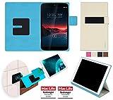 reboon Custodia per Vodafone Smart Tab 4G | in Beige | Cover Case Caso Multifunzionale