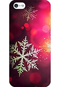 AMEZ designer printed 3d premium high quality back case cover for Apple iPhone SE (Christmas bokeh holiday pattern)
