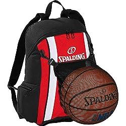 Spalding–Mochila de baloncesto Rojo/Negro incl. Pelota Red + Gratis Botella
