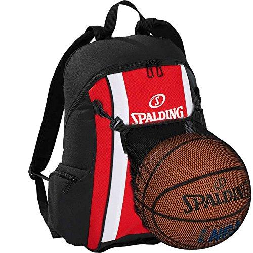 Spalding Basketball Rucksack rot/schwarz mit Ballnetz
