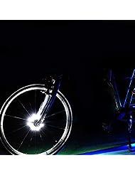 Wasserdichte LED Bike Wheel Lights, Bodecin Cool Colorful Bike Warning Light, 3 Modi Radfahren Bike Speichen Licht Safety Light, Magic Dekoration Licht, Fahrrad Zubehör Beleuchtung