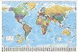 Posters: Cartes Posters XXL - Carte Du Monde, Edition 2008, En Anglais (136 x 96 cm)