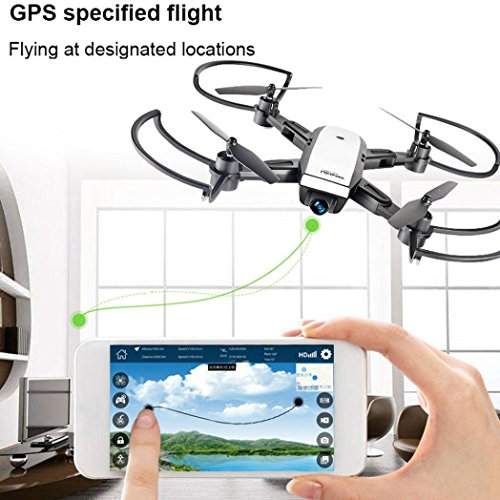Drones for Adults Beginner,Diadia LH-X28GWF 2 4GHz Dual GPS FPV Drone  Quadcopter Headless Mode with Adjustable Wide-Angle HD WIFI Camera -  Altitude