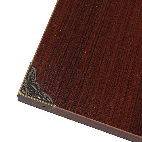 BQLZR 39x10mm Alt Antik Bronze Schreibtisch Kantenabdeckung Eisen Kasten Eckenschutz Packung mit 20