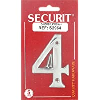 75MM CHROME PLATED DOOR HOUSE FLAT NUMBER NO 4 - ukpricecomparsion.eu
