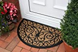Neue Fußmatte aus natürlichen Kokosfasern mit eleganten Mustern 45x75cm