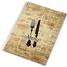 Carta Menú de Mesa Restaurante Pub Hotel Catering Porta Menú 12 Páginas Tamaño A4 BOARD