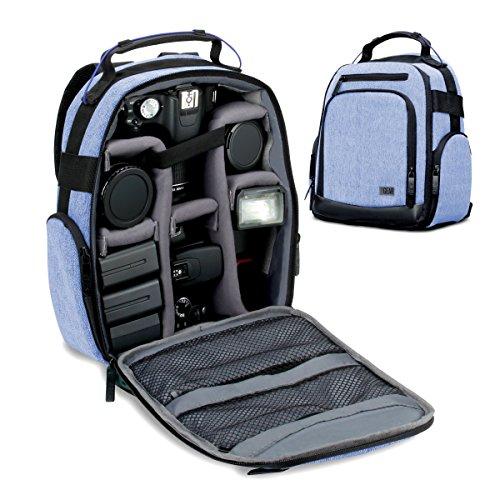 Accessory Power GRULUBK100BLEW Mochila Negro, Azul estuche para cámara fotográfica - Funda (Mochila para tablet, Universal, Canon EOS 80D , EOS 5DS , 5DS R , 7D Mark II , 1D X Mark II , 7D , 6D , 70D , Rebel T6s , T6i ,..., Negro, Azul)