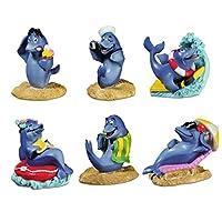 Katerina Prestige-Box of Six Funny Dolphin Figurine, ME1011