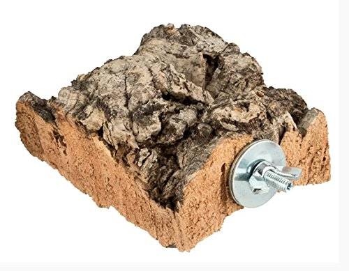 XL Kork-Pickstein für Vögel und Nager. Pickstein aus Naturkork (natürliche Korkrinde) zum Anknabbern und Knuspern. Vogel Zubehör und Spielzeug aus reiner Kork-Rinde für Vogel , Wellensittich, Nagetier, Papagei und andere Haustiere. Spannende Alternative zur Sepia-Schale oder Mineralstein mit Flügelmutter zur einfachen Befestigung am Käfig von Kork-Deko