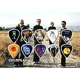 Printed Picks Company Coldplay Premium Celluloid Guitar Picks Display Tribute