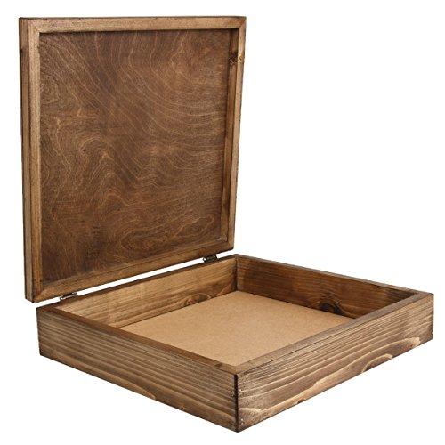 XXL Taglia 2per libri in legno, Cofanetto in legno marrone scuro Taglia 39x 37cm