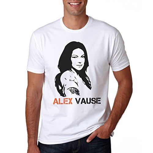 Alex Vause Stencil Portrait Orange Is The New Black Herren T-Shirt Weiß