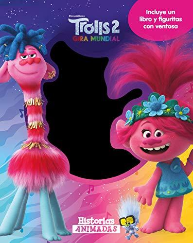 Trolls 2. Historias animadas: Incluye un libro y figuritas con ventosa