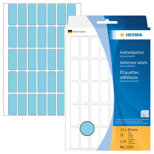 herma-2353-vielzwecketiketten-papier-matt-12-x-30-mm-1120-stuck-blau