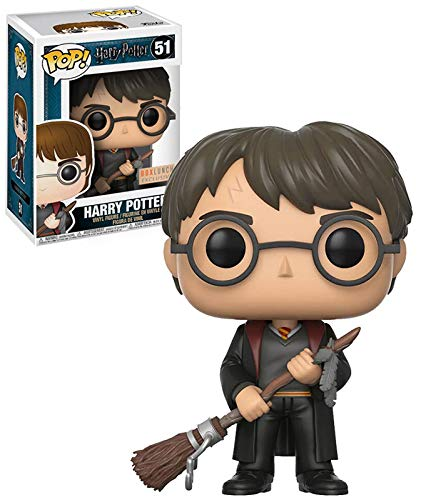 Pop Figure Harry Potter Harry with Firebolt & Feather Exclusive