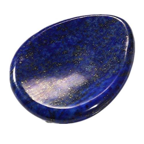 QGEM Lapislazuli Edelstein Tropfen Konkav Handschmeichler(worry Stone) Trommelstein Reiki Healing Stein Deko Dekoration