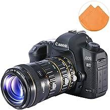 First2savvv XJPJ-CCW-13E07 tubo de extensión macro de con enfoque automático para cámaras fotográficas Canon EOS 50D 60D 60Da 70D 7D 5D 6D 760D + naranja paño de limpieza