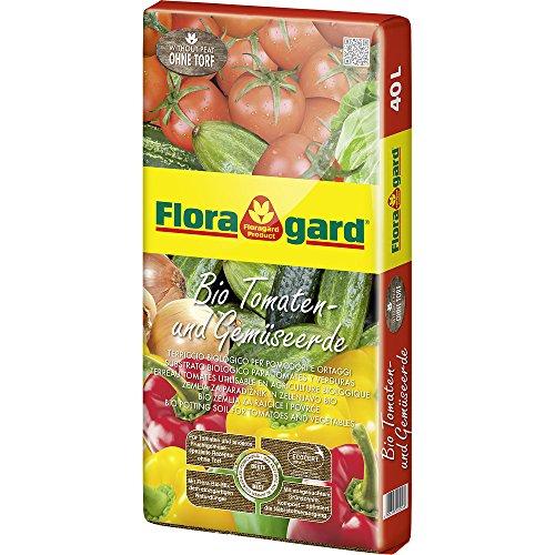 Floragard Bio Tomaten- und Gemüseerde ohne Torf 1x40l