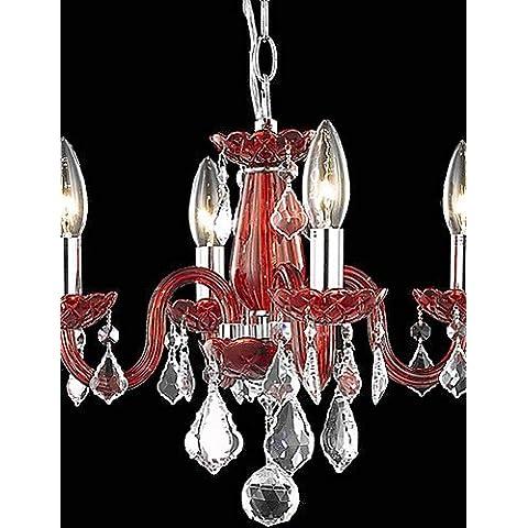 ZSQ Destacados Velas Candelabros de Cristal con 4 semáforos en rojo , 220-240 v #4138