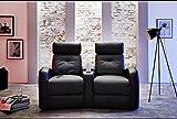Wohnorama Houston 2er Fernsehsessel Cinema Sessel Heimkino Kinosessel mit Getränkehalter