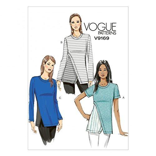 Vogue Damen Schnittmuster 9169Kontrast Folien Jersey Knit Tops