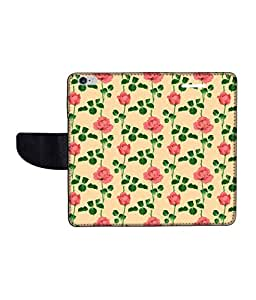 KolorEdge Printed Flip Cover For Apple IPhone 6 Multicolor -(47KeMLogo12301IPhone6)