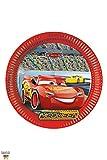 Disney 87807 8 Teller Cars 3 von für Kindergeburtstag oder Motto-Party, Lightning McQueen Autos Rennautos Rennen