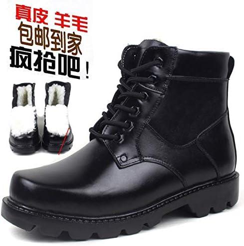 LOVDRAM Stivali da da da Uomo Thicken Inner Leather Men's scarpe Outdoor Casual High Top scarpe Wear Martin stivali,nero Thickening,43 B07L66247Y Parent   acquisto speciale    Tocco confortevole  d75709
