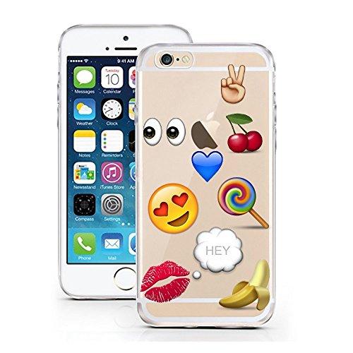 iPhone 6 6S Hülle von licaso® für das Apple iPhone 6 6S aus TPU Silikon Better Latte Kaffee Becher To Go Muster ultra-dünn schützt Dein iPhone 6S & ist stylisch Schutzhülle Bumper Geschenk (iPhone 6 6 Smiley