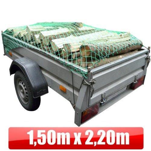 Anhängernetz 1,5x2,2m Trennnetz Gepäcknetz Gummigurt Ladungssicherung