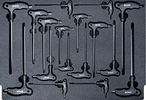 SW-Stahl Werkstattwagen- sortiment T-Griff Steckschlüssel, Z3000-9