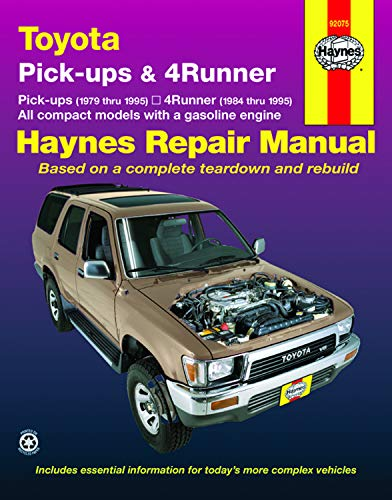 Toyota Pickups and 4-Runner, 1979-1995 (Haynes Manuals) (1979 Pickup Toyota)