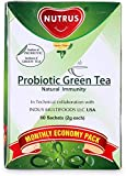 #7: Nutrus Probiotic Green Tea 60 Sachets (2g Each)- Monthly Economy Pack