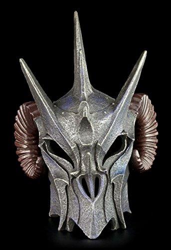 Dämonen Helm – Dunkler Lord – Totenkopf Figur Schädel Hörner - 2