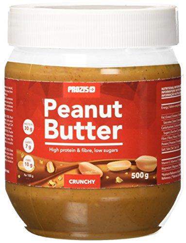 Prozis burro d'arachidi 500g - consistenza deliziosa & croccante - fonte naturale di proteine - adatto a diete vegane, kosher e halal - senza sale o grassi trans aggiunti