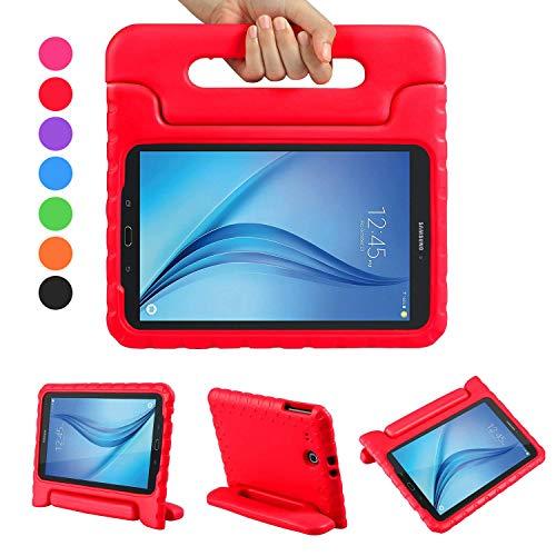 LEADSTAR Samsung Galaxy Tab E 9.6 EVA Etui Poignée Stand Étui Enfants Housse Antichoc Protecteur Kids Coque Anti-Chocs pour Samsung Galaxy Tab E 9.6-Pouces SM-T560 / T561 (Rouge)