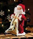 """infactory Weihnachtsartikel: Singender, tanzender Weihnachtsmann """"Swinging Santa"""", 28 cm (Tanzender Weihnachtsmann mit Musik) - 4"""