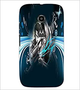 PrintDhaba Abstract Image D-4983 Back Case Cover for MOTOROLA MOTO E2 (Multi-Coloured)